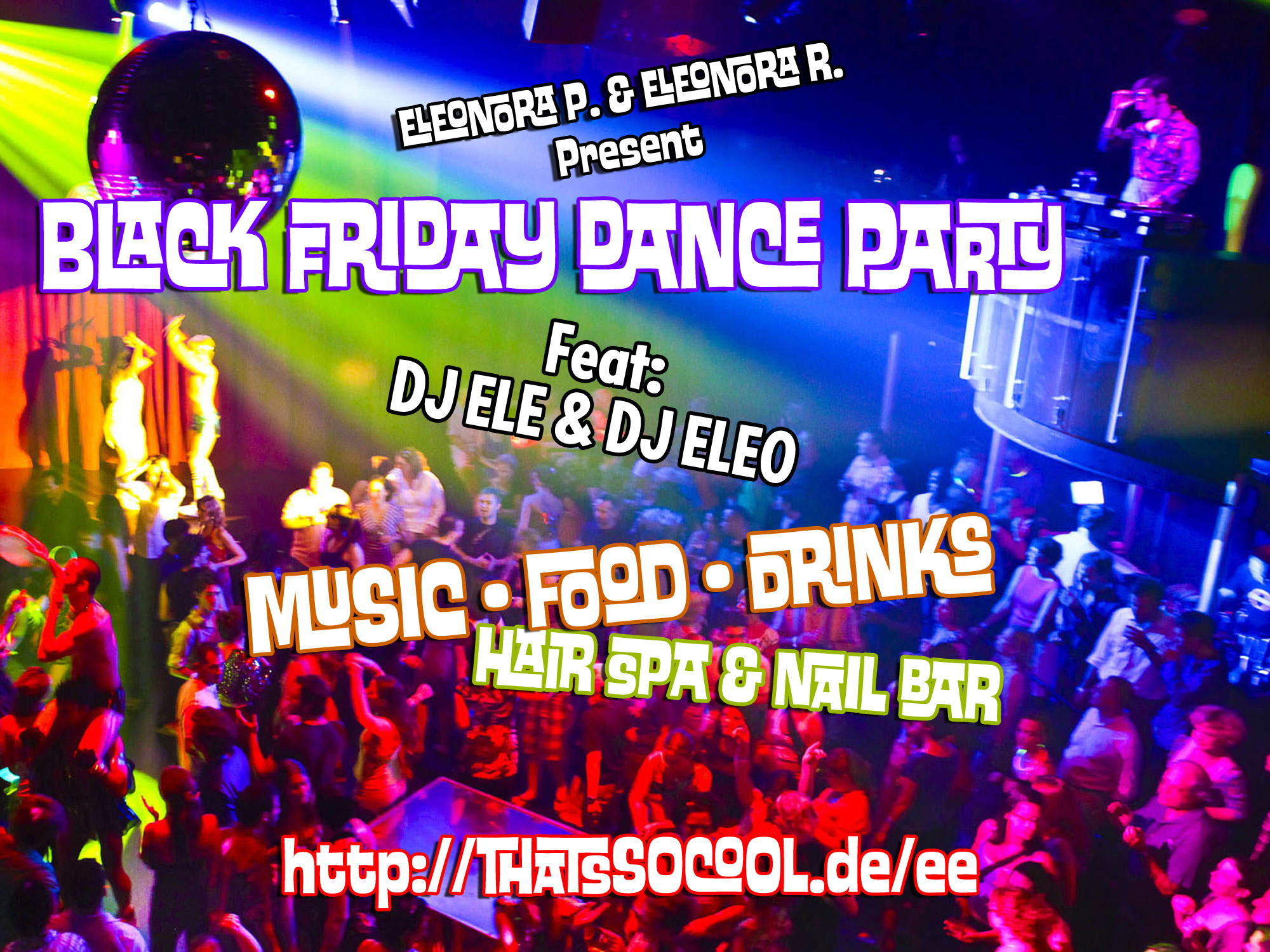 "poster for ""Black Friday Dance Party"""