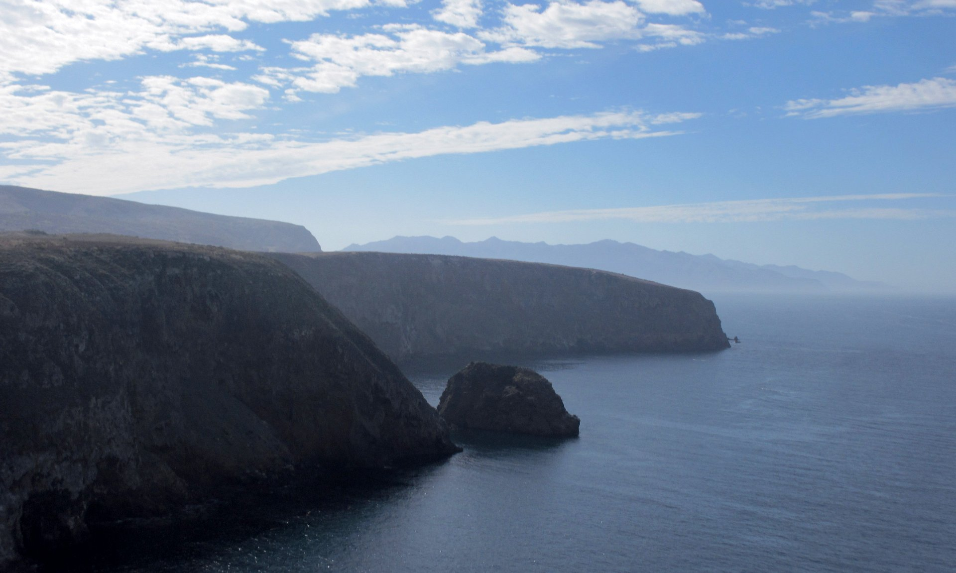scenic view of Santa Cruz Island