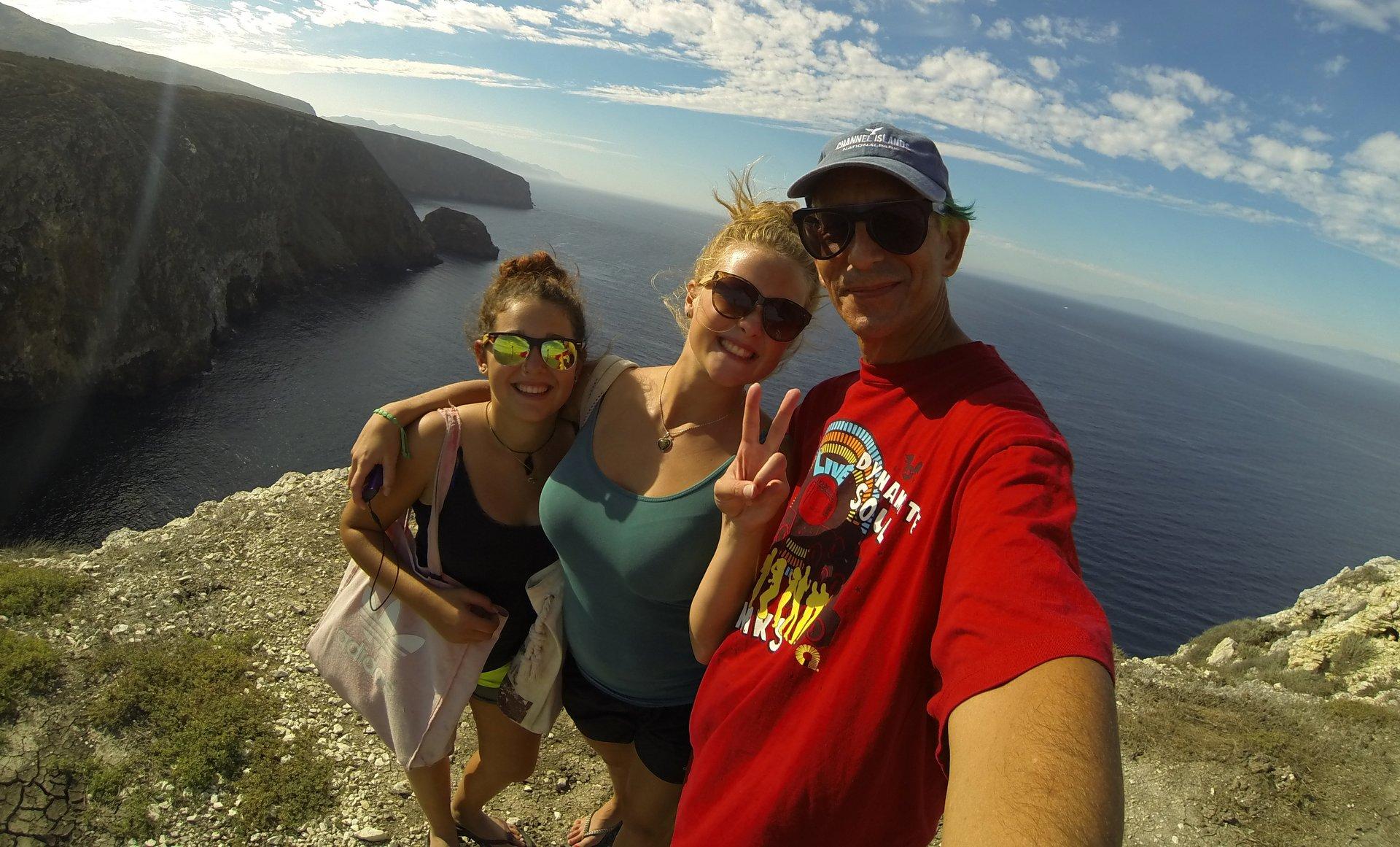 hiking on Santa Cruz Island
