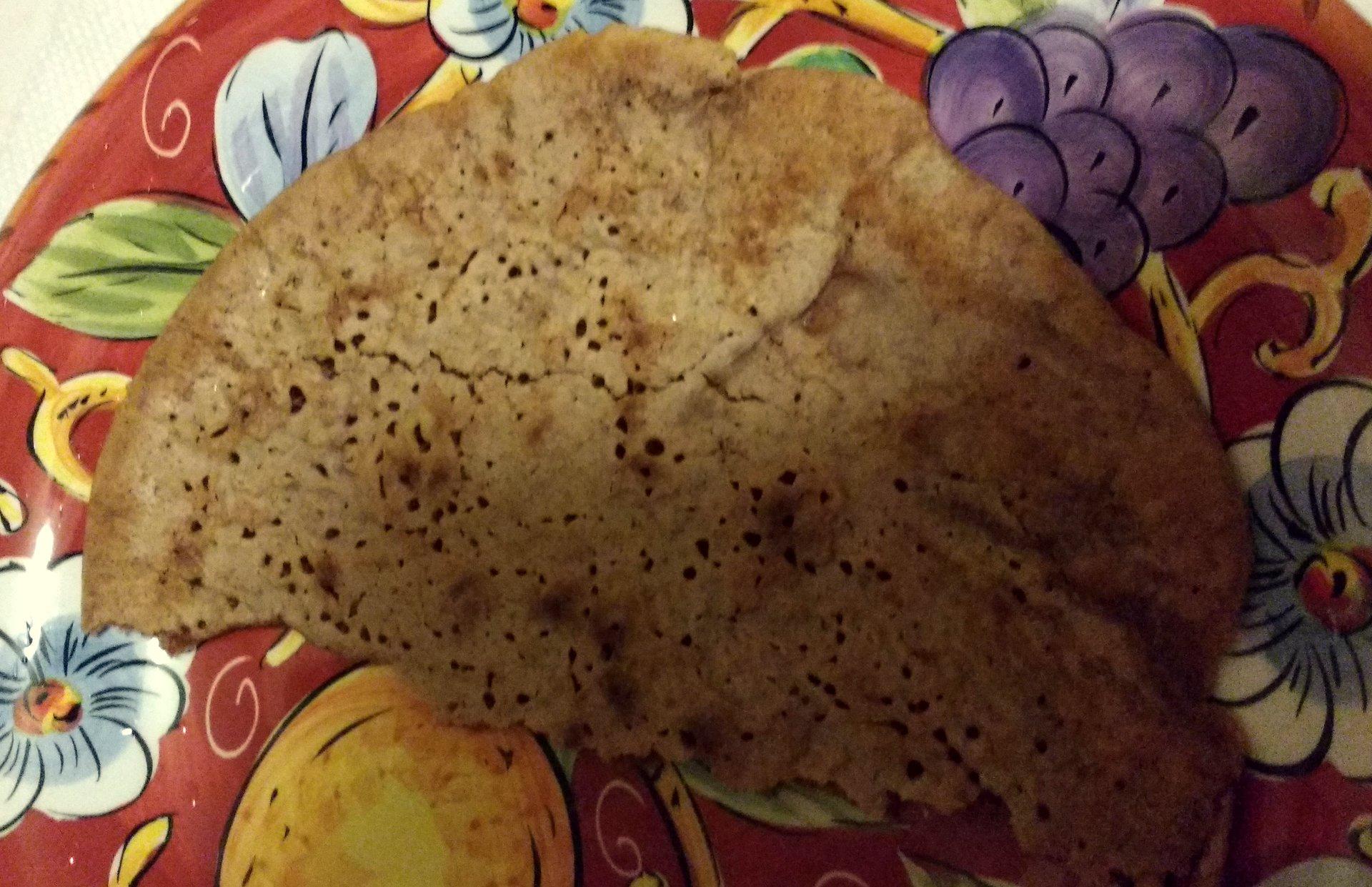 A Palatschinken pancake on a plate