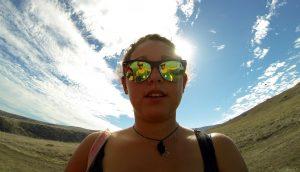 Zeinab Greif wearing mirrored sunglasses