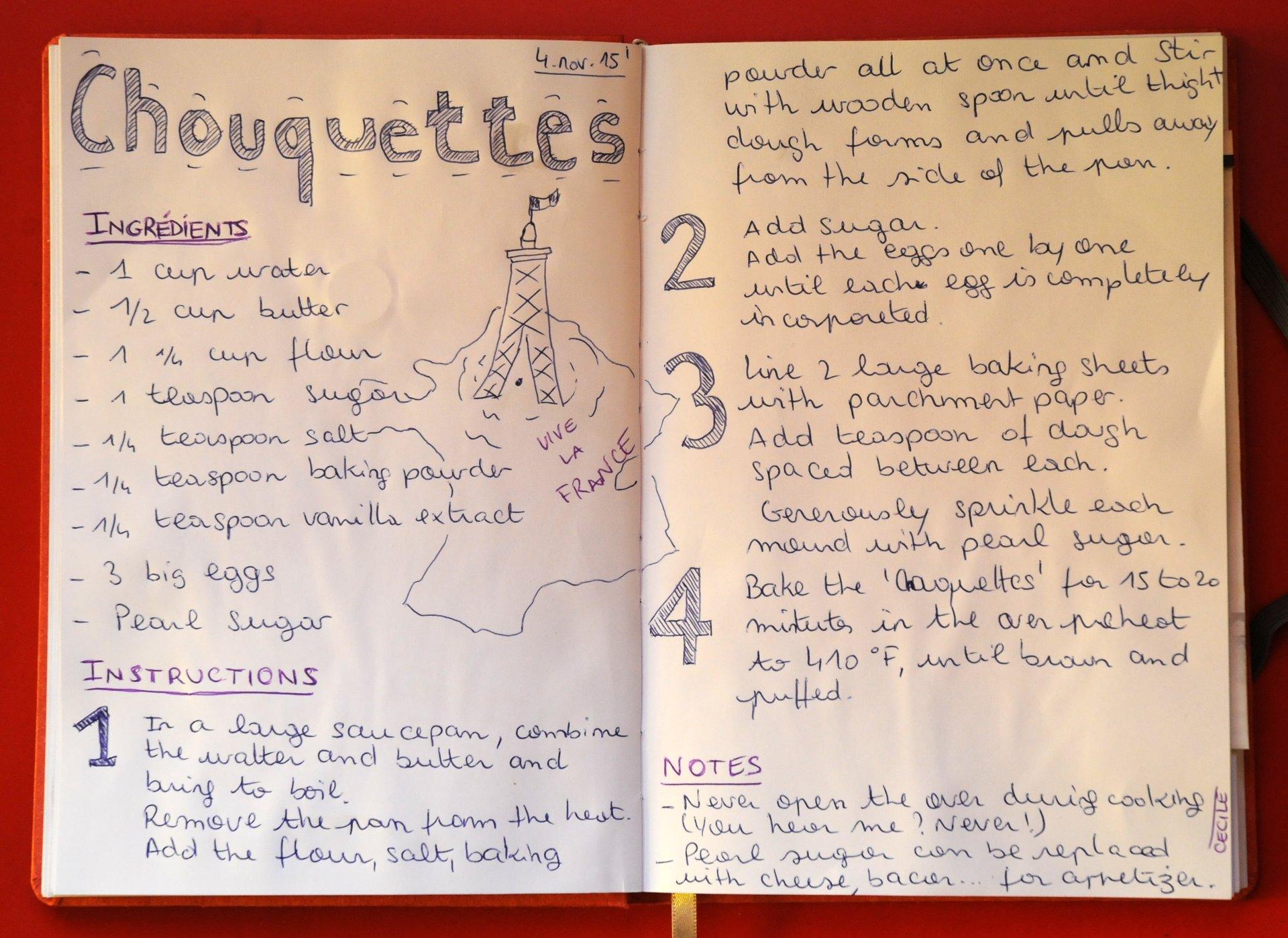 Chouquettes, Recipe #1