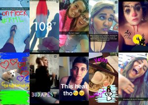 a montage of 10 Snapchat images